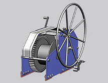 design of coupling winch and building of sturdy coupling winches at Kooiman Marine Group KMG The Netherlands