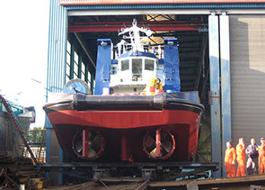 bnr 167 Dutch Partner twin screw chine strake hull tugboat stern roll push bow, maritime ship design and shipbuilding  Kooiman Marine Group KMG