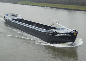bnr 185 Onderneming single screw inland hopper barge, maritime ship design and shipbuilding by Kooiman Marine Group KMG