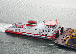 bnr 199 Veerhaven 4 Neushoorn triple screw pusher boat for Rhine and inland service, maritime ship design and shipbuilding Kooiman Marine Group