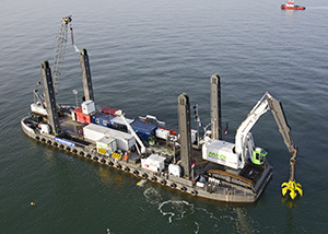 bnr 201 Scheldeoord multifunctional dredging pontoon, maritime ship design and shipbuilding by Kooiman Marine Group KMG