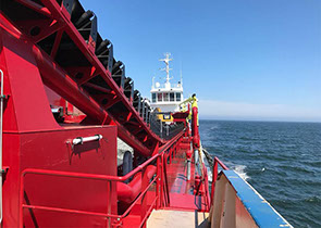 DC Brugge dredger trailing suction hopper dredger, refit and conversion, shipdesign shipbuilding by Kooiman Marine Group