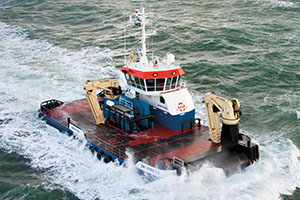 work boats portfolio Kooiman Marine Group, work ship Zwerver 3